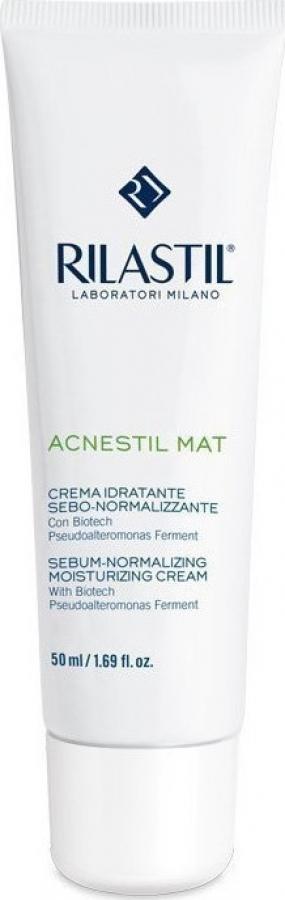 Rilastil Acnestil Mat Cream Ενυδατική & Σμηγματορυθμιστική Ματ Κρέμα 50ml.