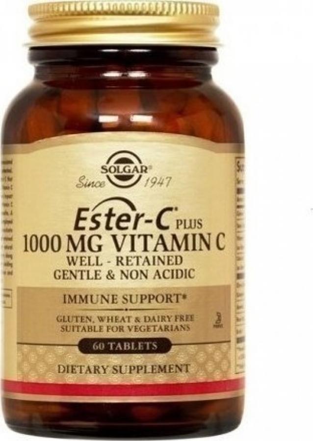 Solgar Ester-C 1000mg Vitamin C 60 ταμπλέτες