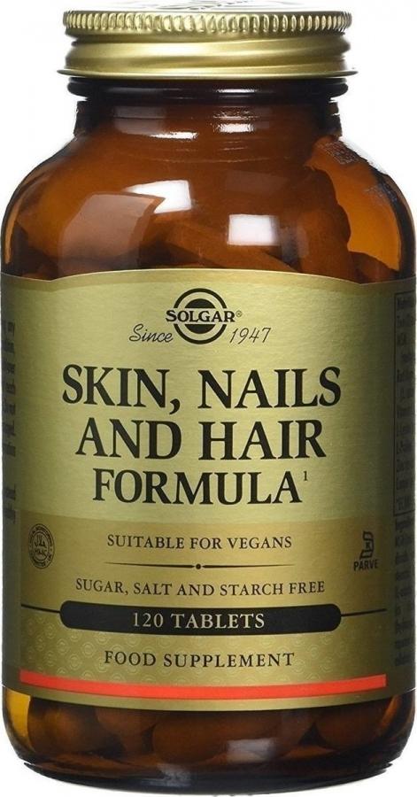 Solgar Skin Nails and Hair Συμπλήρωμα Διατροφής για τη Καλή Υγεία του Δέρματος, των Νυχιών και των Μαλλιών, 120tabs