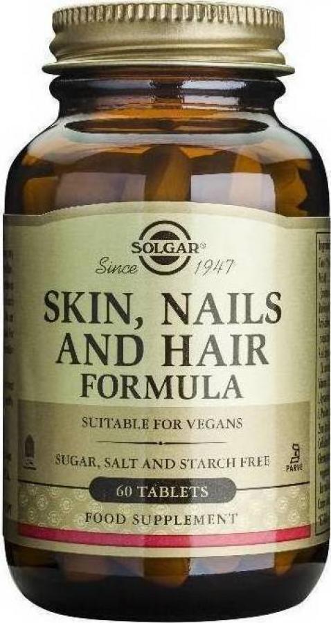 Solgar Skin Nails and Hair Συμπλήρωμα Διατροφής για τη Καλή Υγεία του Δέρματος, των Νυχιών και των Μαλλιών, 60tabs