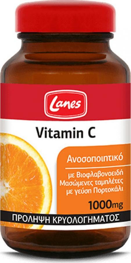 Βιταμίνη C 1000mg με βιοφλαβονοειδή, 60 μασώμενες ταμπλέτες