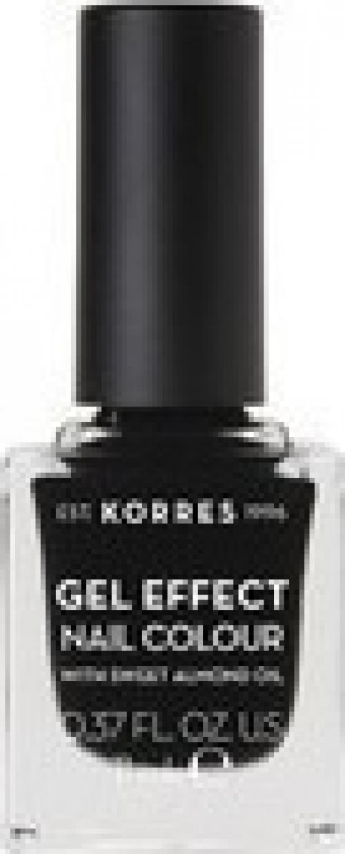 Gel Effect Nail Colour 100 Black 11ml